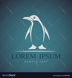 image of penguin on blue background. Download a Free Preview or High Quality Adobe Illustrator Ai, EPS, PDF and High Resolution JPEG versions.