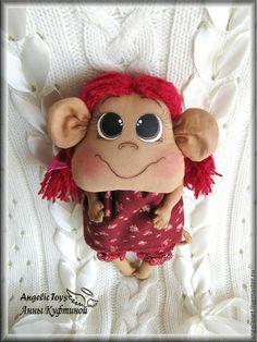 Игрушки животные, ручной работы. Ярмарка Мастеров - ручная работа. Купить обезьянка Маняша  (символ 2016 года - обезьяна). Handmade.