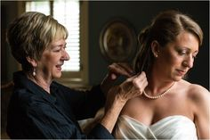 Wedding Photography Ideas : Mother putting pearls on the bride on her wedding day  so priceless! Click to v