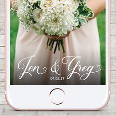 Snapchat Wedding Geofilter, Snapchat Geofilter Wedding,  Custom Snapchat Filter, Wedding Snapchat filter, Personalized Filter by LMNDesignStudio on Etsy https://www.etsy.com/ca/listing/508230179/snapchat-wedding-geofilter-snapchat