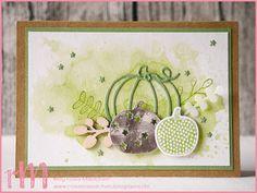 Stampin' Up! rosa Mädchen Kulmbach: Geburtstagskarten mit Pick a Pumpkin und Thinlits Erntedank