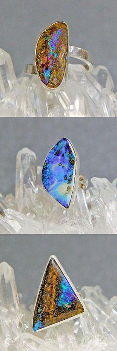 Jennifer Kalled's beautiful one of a kind Austrailian Boulder Opal rings..http://www.kalledjewelrystudio.com/collections/jennifer-kalled/rings