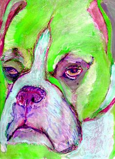 Hey, I found this really awesome Etsy listing at https://www.etsy.com/listing/205770549/boxer-dog-art-limited-edition-canvas
