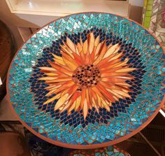 Poppy Mosaic Patterns for BeginnersPoppy mosaic This would be beautiful as a table top.Timeless original mosaics and architectural wood carvings become part of your life. Mosaic Birdbath, Mosaic Tray, Mosaic Tile Art, Mosaic Artwork, Mirror Mosaic, Mosaic Garden, Mosaic Glass, Glass Art, Stained Glass