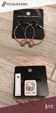 NWT Rose Gold Earrings Beautiful earrings! New York & Company Jewelry Earrings