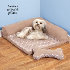 Orthopedic Comfort Pet Bed With Pillow from Collections Etc. Animal Room, Animals And Pets, Cute Animals, Dog Quilts, Diy Dog Bed, Dog Clothes Patterns, Pet Mat, Pet Beds, Diy Stuffed Animals