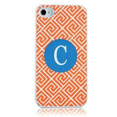 Mostly orange iPhone case