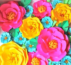 Extra large Paper Flower Backdrop  Pink and by PAPERandPEONY