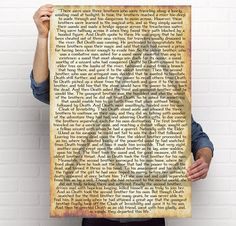 """Harry Potter Deathly Hallows Poster- 24"""" x 36"""" - The Tale of the Three Brothers. Perfect for Any Potter Fan! 5% Donated to Lumos Foundation!"""