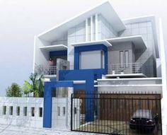 70 Minimalist And Classic House Color Designs Duplex House Design, House Front Design, Minimalist House Design, Minimalist Decor, Sliding Door Design, Building Images, New Home Designs, Classic House, Picture Design