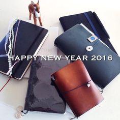 2016年のノートブックたち。  なかむら真朱の「About A Notebooker」