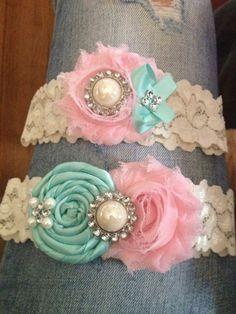 Wyoming wedding, rustic wedding, lace and burlap, blush pink, turquoise, lace garter, etsy, vintage garter