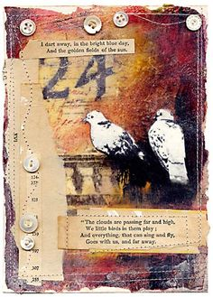 Layers! Art journal inspiration. Love this.