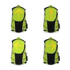 Led Wireless Cycling Vest Safety Led Turn Signal Light Bike Bag Safety Turn Signal Light Vest Bicycle Reflective Warning Vests Terrific Value Bicycle Accessories