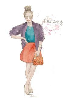 fashion illustration, fashion blogger, frassy audrey