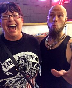 CJ Pierce of Drowning Pool is hilarious! Loved meeting those guys. :) @ The Nest, Fostoria, Ohio - Oct. 31, 2014.