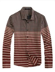 Stylish Colorful Plaid and Stripe Shirt