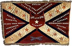Confederate Battle Flag of the & Florida Infantry Regiments; after the Battle of Perryville, October both units were so decimated they were combined.