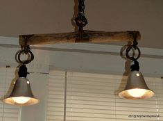 antique yoke double light, lighting, repurposing upcycling, It is a hanging light but each individual lights has their own on off switch Rustic Track Lighting, Unique Lighting, Lighting Ideas, Rustic Light Fixtures, Single Tree, Direct Lighting, Light Project, Tree Lighting, Work Lights