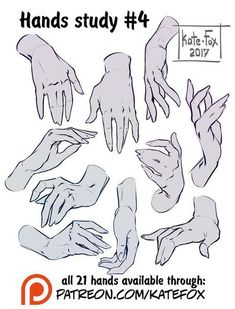 Hands study 4 by Kate-FoX drawing, Poses step by step 2 prev by Kate-FoX on DeviantArt Hand Drawing Reference, Art Reference Poses, Female Reference, Design Reference, Drawing Base, Figure Drawing, Main Manga, Hand Pose, Drawing Studies