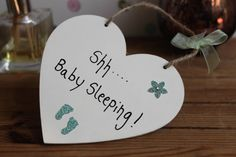 Personalized Shhh Baby Sleeping, Pregnancy Gift, Baby Shower Gift, Baby Countdown Sign, Baby Sleeping Sign, Baby Door…