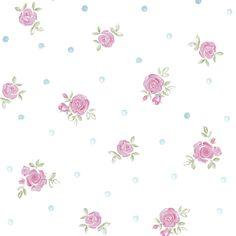 Pink and White Wallpaper | ... Wallpaper White / Pink - Designer Selection from I love wallpaper UK