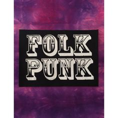 MISPRINT Folk Punk Canvas Fabric Patch Johnny Hobo And The Freight Trains Ramshackle Glory Days N' Daze Andrew Jackson Jihad Black White Ink