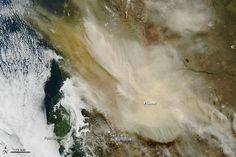 Calbuco, Chile desde el espacio