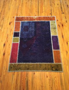 Patchwork Turkish Carpet Handmade Rug by RugToGo on Etsy