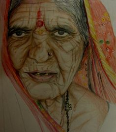 Life's journey etched on skin - Sketching by Shivangi Chowdhry at touchtalent 687