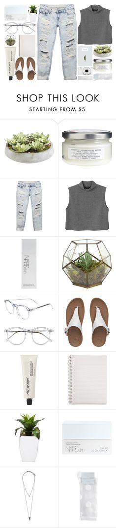 """Marika"" by brenna-kaye ❤ liked on Polyvore featuring Ethan Allen, Davines, Wet Seal, Monki, NARS Cosmetics, Jayson Home, Wildfox, FitFlop, Antipodes and Mead"