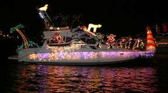 Lighted boat parade#funmemories