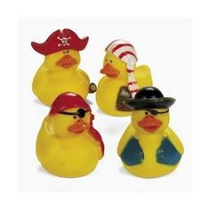 One Dozen (12) Mini Pirate Rubber Ducks Duckie Ducky Party Favors.  FOR LOOT BAG.  going to personalize with pen