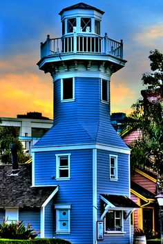 Seaport Village - San Diego, California-I would love to visit every lighthouse in the world. San Diego, Lighthouse Pictures, Beacon Of Light, Water Tower, Beautiful Places, Around The Worlds, House Styles, California Usa, California Camping