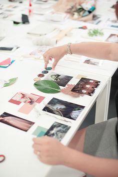 In the making. Mood Board Workshop- Eclectic Trends #MoodboardingForProfessionals