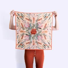 "Edith Rewa silk scarf from the ""Fossick"" collection."