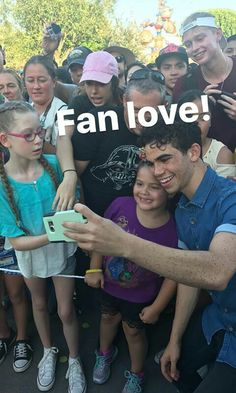 Cameron with fans