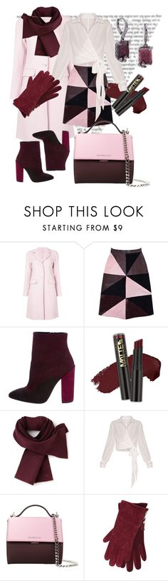 """""""bordo"""" by babnovas ❤ liked on Polyvore featuring P.A.R.O.S.H., Florence Bridge, Giambattista Valli, L.A. Girl, Lacoste, Givenchy, M&Co, Jenny Packham and winterscarf"""