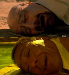 """Parallel moments on """"Breaking Bad"""": Walter White (Bryan Cranston) and Gustavo Fring (Giancarlo Esposito) Breaking Bad Funny, Breaking Bad Series, Best Series, Best Tv Shows, Best Shows Ever, Tv Series, Breking Bad, Gustavo Fring, Call Saul"""