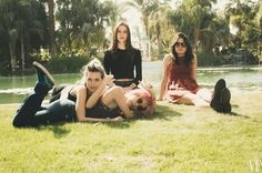 Warpaint backstage at Coachella. Photo by Catie Laffoon.