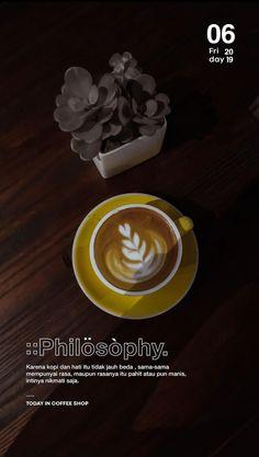 Creative Instagram Stories, Instagram Story Ideas, Instagram Quotes, Coffee Instagram, Typography Inspiration, Coffee Shop, Photo Editing, Words, Tableware