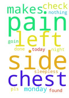 Am having a pain on my left side of chest which makes - Am having a pain on my left side of chest which makes me sleepless today night. Monday am goin for a check up done. Pls pray nothing to be found in the check up. Posted at: https://prayerrequest.com/t/UIT #pray #prayer #request #prayerrequest