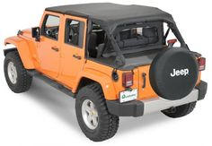 QuadraTop™ Bimini Top Plus, Clearview Windstopper & Tonno Cover Combo in Black Diamond for 07-13 Jeep® Wrangler Unlimited JK 4 Door - Quadratec