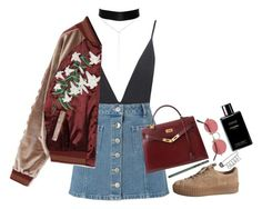 """""""Untitled #247"""" by kaylastar221 ❤ liked on Polyvore featuring River Island, Boohoo, Miss Selfridge, Hermès and Chanel"""