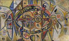 Richard Pousette-Dart (American, Desert Date: 1940 Medium: Oil… Willem De Kooning, Jackson Pollock, Abstract Expressionism, Abstract Art, Abstract Paintings, Francis Picabia, Museum Of Modern Art, Elementary Art, Darts