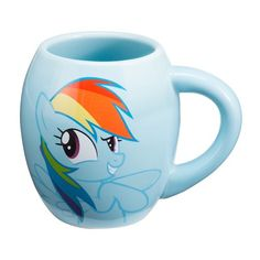 Friendship is magic with my little pony! this beautiful oval shaped 18-ounce mug is ceramic and features photo quality graphics of rainbow dash, the pony who lives for adventure! both microwave and dishwasher safe, it makes the ideal gift for any my little pony fan. Making retro cool since 1957, legends live on at Vandor-suppliers of hip and functional products for fans of all ages.