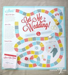 Interactive wedding invitation! Very cute! Could also make a Candyland inspired invite for a children's party!
