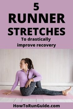 5 Runner Stretches to add to your post-run routine for improved muscle recovery and injury prevention too. Running Plan, Running Tips, Running Songs, Start Running, Running Humor, Marathon Tips, Half Marathon Training, Marathon Running, Workout Songs