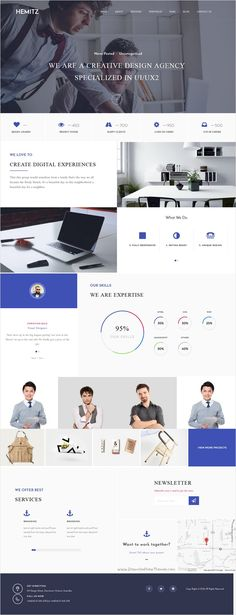 Hemitz is modern, clean and elegant responsive #WordPress Theme for creative #agencies to show #portfolio and projects in amazing website download now➩ https://themeforest.net/item/hemitz-wordpress-theme-for-portfolio-and-creative-agency/17507978?ref=Datasata