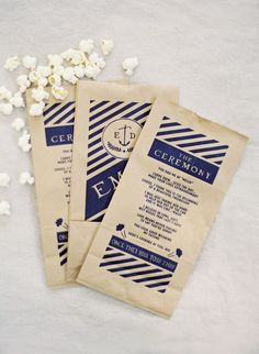 Ceremony popcorn programs: